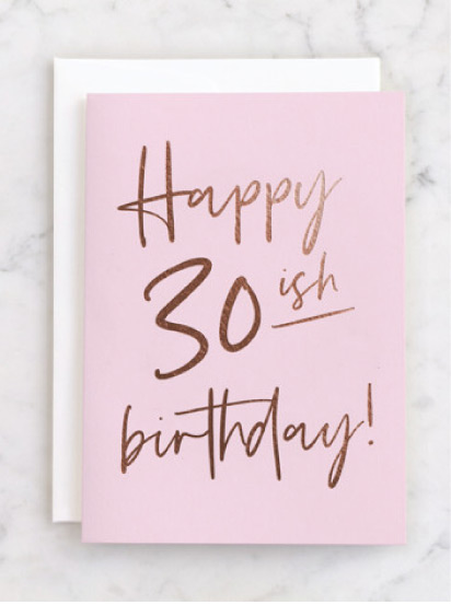 Birthday card - 30ish foil sold at Target