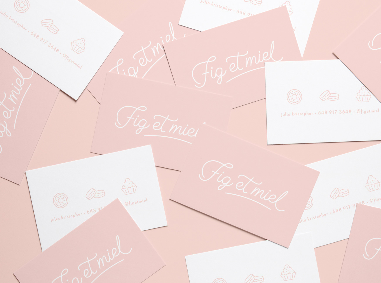 Bakery Figue & Miel - business cards