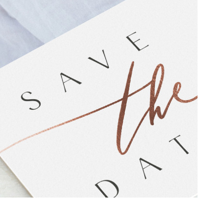Save the date - Foil press
