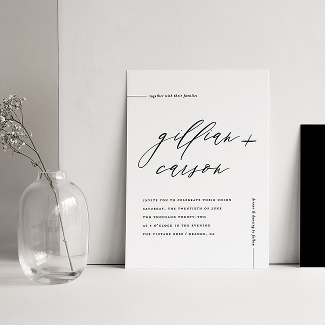 10 Minimalistr wedding invitations for the modern couple