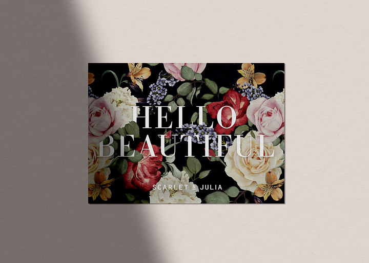 Printed greeting cards: Hello Beautiful