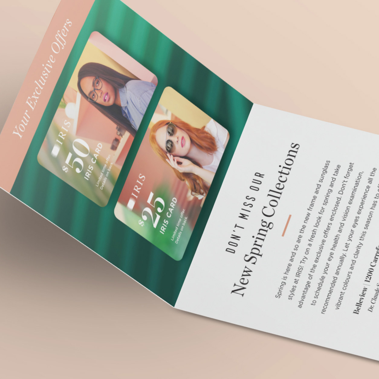 Printed promo mailer for over 150 stores in Canada