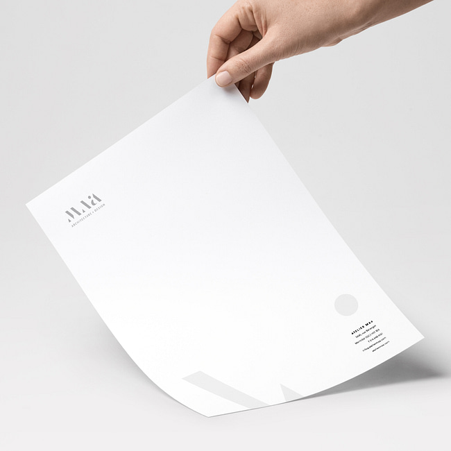 Architect firm: letterhead collateral