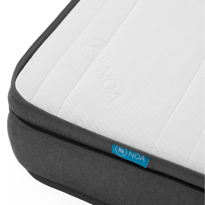 Mattress tag and emboss design
